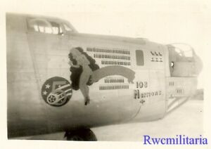 """Org. Nose Art Photo: B-24 Bomber """"108 MISSIONS""""!!!"""