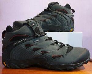 Merrell Goretex Chameleon 7 Leather Mid Dark Grey/Black Men's UK8 New RRP £185