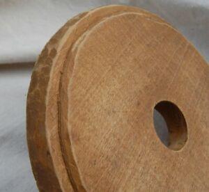"Antique Primitive Round Hand Carved Wood Churn Lid outside 7 3/4"" Inside 6 3/4"""
