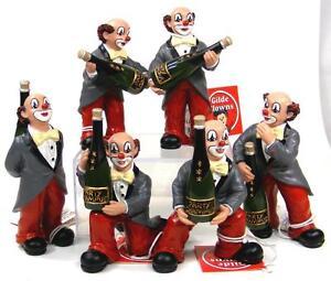 Fête Clowns Guilde Divers Clowns, Respectivement avec Champangerflasche Neuf
