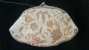 Vintage Embroidered & Beaded Clutch Bag 1920s