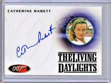 JAMES BOND 50TH ANNIVERSARY A168 CATHERINE RABETT AUTO
