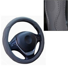 1*38cm PU Leather Car steering wheel cover gray No distortion fade embossed 15""