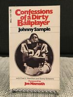 Confessions of a Dirty Ballplayer Johnny Sample 1st Dell Print w/Joe Namath Book