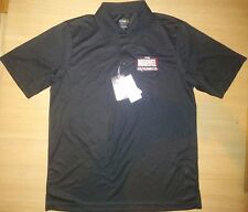 EXCLUSIVE THE MARVEL EXPERIENCE TMX BLACK POLO SHIRT SIZE MEDIUM NEW WITH TAG