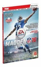 New Madden NFL 16 Prima Games Strategy Official Guide Softcover