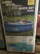 """New Summer Waves® 15' x 36"""" Quick Set® Ring Pool with Filter, Free Fast Ship"""
