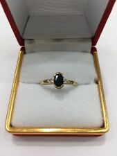 9ct Oval Shape Sapphire And Diamond Ring. Brand New Instore