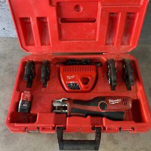 Milwaukee M12 Force Logic Press Crimp Tool Case, Charger & 4 Jaws 2473-22