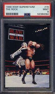 1998 WWF Superstarz #15 The Rock PSA 9 MINT RC NEW PSA GRADE  Ships F CAN & USA