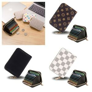Soft Leather Credit Card Holder with RFID Protection - Takes 11 Cards