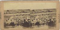 Panorama Da Gerusalemme Foto Stereo Vintage Albumina c1860