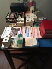 Box Full Of Coin Collecting Supplies, Whitman Albums, Holders,Books Coins More
