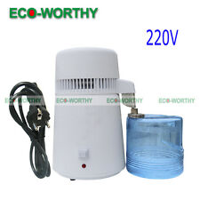 4L Water Distiller Filter Purifier Distilled Water Home/Lab/Dental/Medical 1L/H
