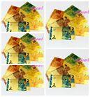 30 Pcs Brazil Crafts Banknotes Colorful Golden Paper Money (2-100 REAIS 5Set )
