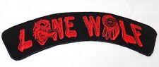 "Lone Wolf Red Dream Catcher 11"" x 2.75"" Back Rocker MC Biker Vest Patch HEY-0069"