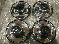 Dodge Rampage Plymouth Turismo 84-87 Chrome Center Caps Aluminum Turbo Wheel Set