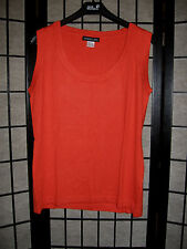 **NEU** Pullunder Pullover ohne Ärmel von Patrizia Dini Gr 46 in Orange