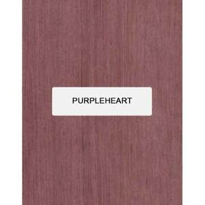 """Purpleheart Guitare Archtop Tailpiece Blank, 8 """" x 3.4 """" X 5/8 """""""