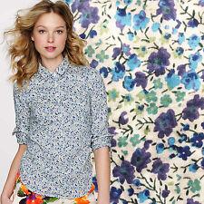 JCREW Liberty of London Popover Shirt Phoebe Floral Ditzy Print Blouse Blue 6