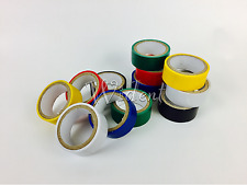 "12 Rolls Colored Electrical Tape 3/4"" in x 6.6ft PVC Insulation"