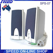 SPEED SPS-07 White 2.0 Speakers (AC 240V) for PC, Labtop, Tablet, iPad, iPhones
