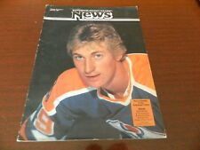 1981 Scotiabank HOCKEY COLLEGE NEWS #99 WAYNE GRETZKY Oilers 'PARK poster
