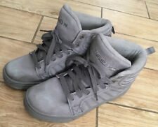 Heelys Youth Boys Skate Wheels Shoes Hi-top Canvas Gray Sz 6