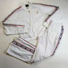 Champion Women 2p set 100%AUTHENTIC size M half Track Jacket and pants white