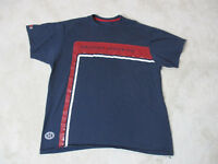 VINTAGE Nautica Shirt Adult Extra Large Blue Red Spell Out Logo Mens 90s H*