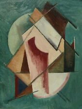 Manner of Alexej Jawlensky Abstract Head OLDER Constructivist Oil Painting NR