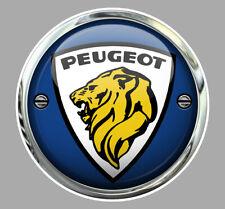 STICKER LOGO PEUGEOT LION AUTOCOLLANT REFLET TROMPE L'OEIL AUTO PC038
