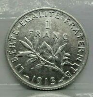 KM# 844.1 - 1 franc semeuse 1915 - SUP - Argent - monnaie France - N7249