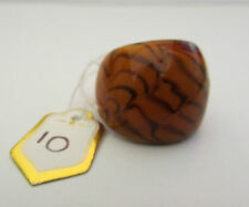 Un estilo Murano Naranja Estampado Murano/Vidrio Anillo. UK.. N. nosotros.. 6.75 (10)