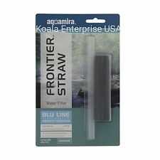 Emergency Water Filter Straw Survival Backpacking Camping car Aquamira Blue line