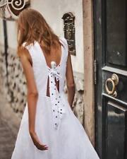 Brand New BEC & BRIDGE Havana Nights Midi White Linen Dress UK 8 10 RRP $330 AUD