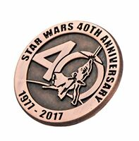 Star Wars 40th Anniversary Collectible Bronze Pin, SDCC 17 Exclusive