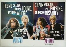 2 Absolutely Fabulous Ab Fab 2001 Comedy Central Patsy Edina Promo Postcards BBC