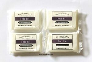 Pharmacopia Argan Oil Collection 4 BODY BAR Soap wOrganic Shea Butter Vit E 38g