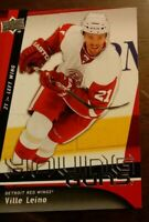 2009-10 UD YOUNG GUNS VILLE LEINO Rookie RC #204 SP Detroit Red Wings COMB SHIP
