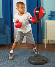 Kids Punching Bag with Gloves New Adjustable Stand Speed Ball With Pump Toy Set