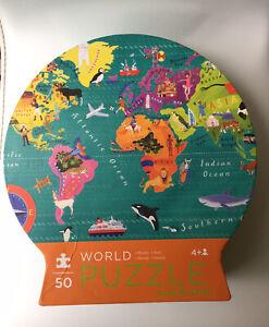 Crocodile Creek World Giant Floor Puzzle 50 Jumbo Pieces Age 4+ 45cm x 66cm