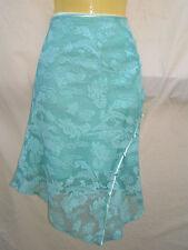 NEW Skirt mint green lace Stretch Asymmetric Hem Ladies Size 8 NWOT