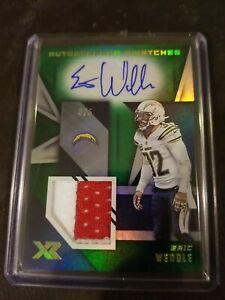 2020 Panini XR ERIC WEDDLE Green Autographed Swatches Patch Auto 3/5 Chargers SP