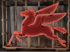 Original Rotator Pegasus Single Sided Porcelain Neon Sign Gas Station Sign Mobil