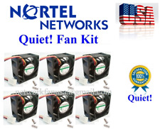 Set of 6x Quiet fans for Nortel 5520-48T-PWR low noise Best for HomeNetworking