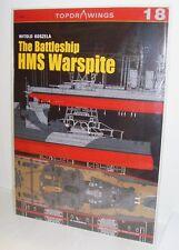 Kagero Publishing - Top Drawings 18 - The Battleship HMS Warspite     Book   New