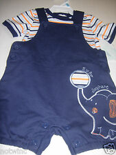 First Moments Toddler Boy's Short Sleeve Bodysuit Top with Overalls 6Mo NWT $30.