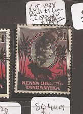 Kenya Uganda & Tang 1938 KGVI Lion SG 150 VFU copy 2 (7day)