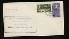 South Georgia revalued stamps on cover Ps 0616